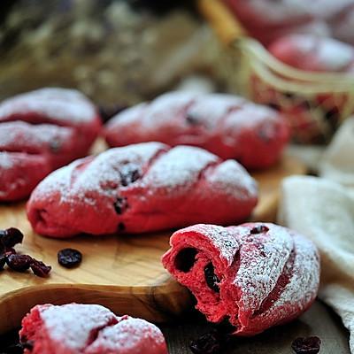 【红曲蔓越莓小面包】——COUSS 厨师机CM-1200出品