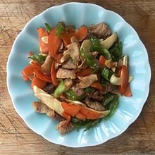小菜.茭白胡萝卜炒肉片