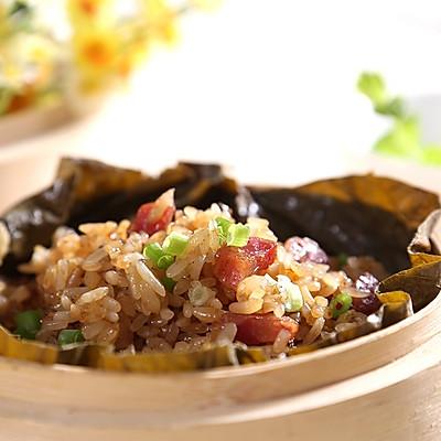 咸香软糯的荷叶饭—自动烹饪锅食谱