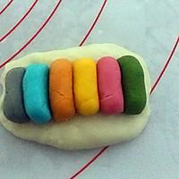 彩虹蛋黄酥的做法图解8