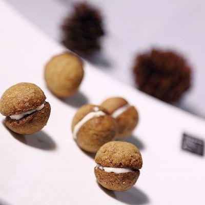 抹茶白巧克力夹心球饼干