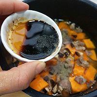 #精品菜谱挑战赛#一键式,糙米南瓜腊肉饭的做法图解7