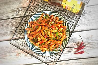 油爆虾 小河虾 鲜美的下酒菜
