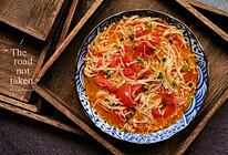 #一人一道拿手菜#番茄金针菇的做法