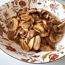 肉片炒口蘑