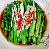 白灼菜心(万能白灼方法)正宗粤菜口味的做法图解4