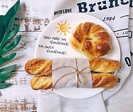 香喷喷的椰蓉奶棒面包的做法