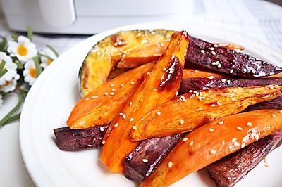 南瓜蜂蜜烤双薯