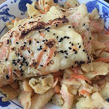十分钟懒人营养餐—胡萝卜鸡蛋饼