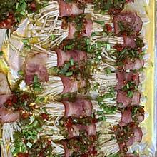 烤金针菇培根卷