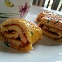 番茄鸡蛋卷饼 ——宝宝的早餐的做法图解6