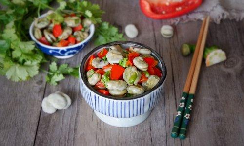 香菜蚕豆瓣#初夏搜食#的做法
