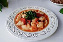 苏椒茄酱焖鱼块的做法