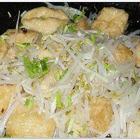 豆芽炒油豆腐的做法图解4