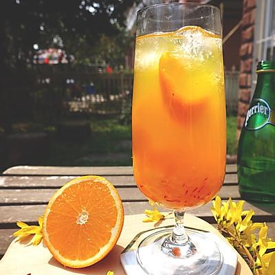 香橙藏红花无酒精鸡尾酒【安卡西厨】