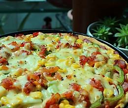 #东菱魔法云面包机#培根披萨的做法