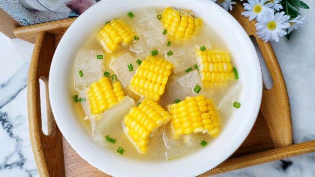 #夏日开胃餐#玉米冬瓜汤的做法