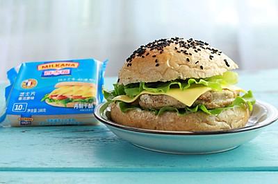 鸡肉奶酪三明治#百吉福食尚达人#