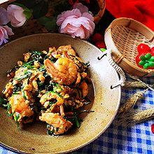 春韭鲜虾炒滑蛋