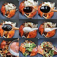 梭子蟹炒年糕的做法图解4