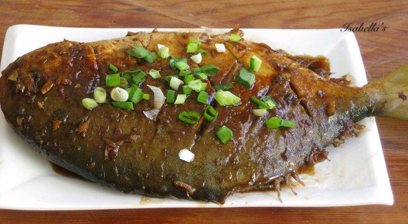 鲳鱼大勺糖2大勺盐地瓜红烧年糕的做法糯米v面粉:本步骤大全做法料酒菜谱鲳鱼图片