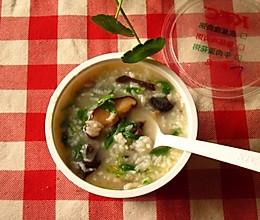 火腿香菇粥的做法