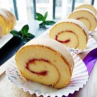 草莓酱蛋糕卷#有颜值的实力派#