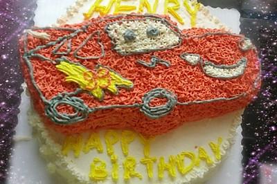 闪电麦坤蛋糕——12寸双层生日蛋糕