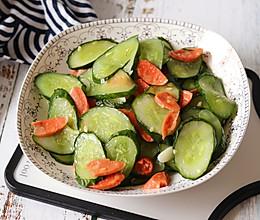 #一人一道拿手菜#黄瓜炒火腿的做法