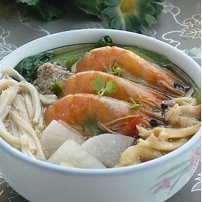 海鲜丸子汤