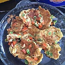 苦瓜胡萝卜鸡蛋饼