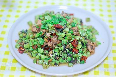 肉末橄榄菜炒四季豆