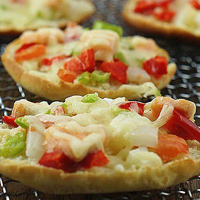 三文鱼时蔬小披萨