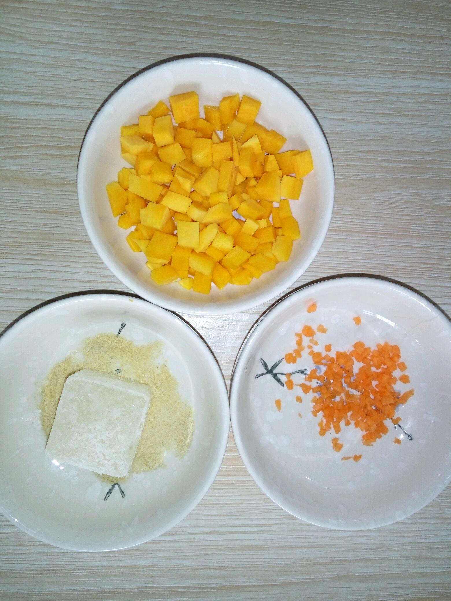 宝宝蔬菜南瓜面线的做法图解1