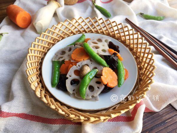 荷塘月色—时蔬小炒的做法