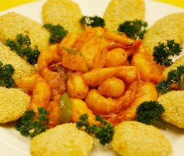 菠萝咕咾虾丨据说咕咾虾和烧饼更配哟【微体兔菜谱】的做法
