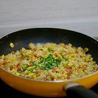 火腿胡萝卜炒饭的做法图解9