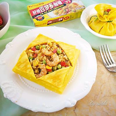 鹰爪虾咖喱蛋包饭