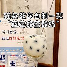"""#美食视频挑战赛#猫叔教你自制一款""""蓝莓蜂蜜酸奶"""""""