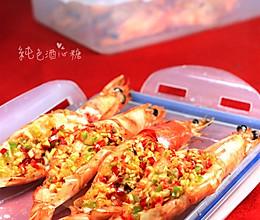 蒜蓉烤大虾的做法