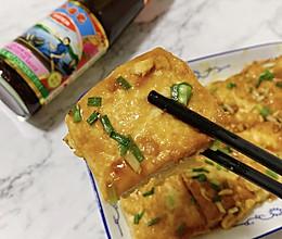 #李锦记旧庄蚝油鲜蚝鲜煮#蚝鲜香煎豆腐的做法