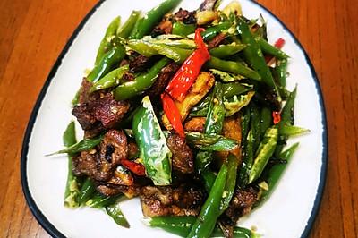米饭不够吃~低油线椒小炒肉