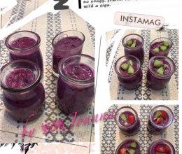 红豆紫薯布丁的做法