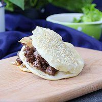 老北京烧饼夹烤肉#利仁电饼铛,烙烤不翻锅#的做法图解19