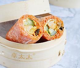 韩式泡菜鸡肉肠粢饭团 | 元气早餐的做法