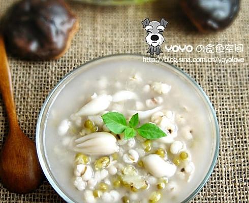 薏仁绿豆做法汤的馄饨百合汤白胡椒粉图片