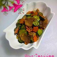 黄瓜胡萝卜炒肉片的做法图解9