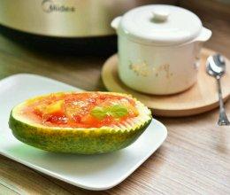 木瓜炖雪燕#胆.敢不同,美的原生态AH煲#的做法
