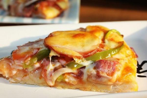培根蔬菜披萨的做法