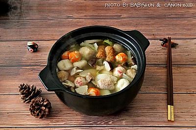 暖身杂烩丸子锅
